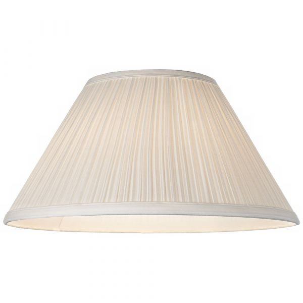 Large Pleated Lamp Shade Beige