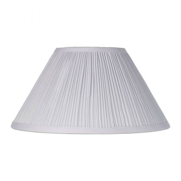 Large Pleated Lamp Shade White