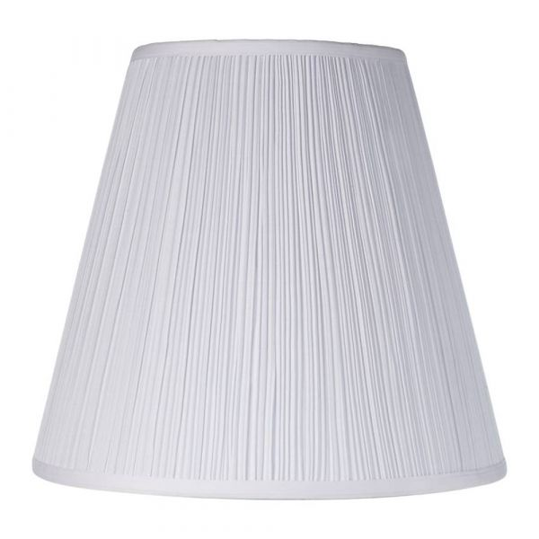 Small Pleated Lamp Shade White