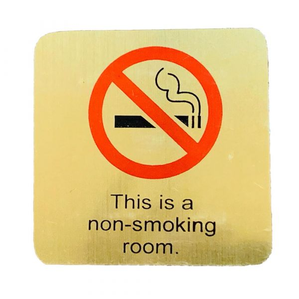 Non Smoking Sign for Door
