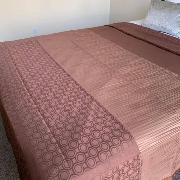 Moden Decorative Top Sheets Brown/Gold-Full Xl