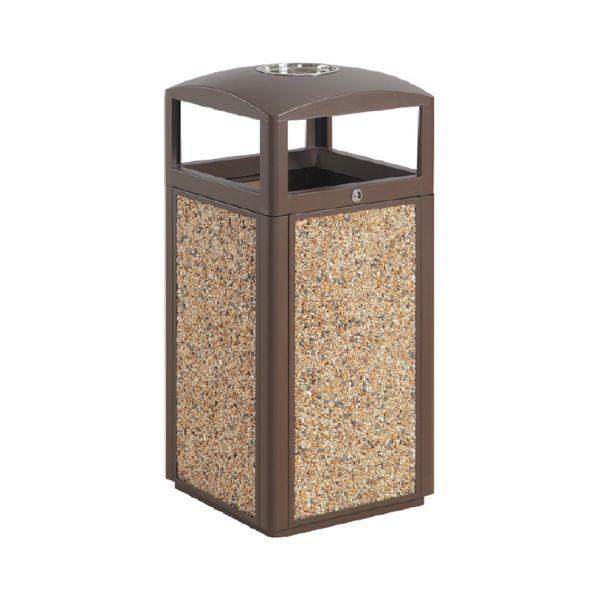 Sand Panel Outdoor TrashCan 15 gallon