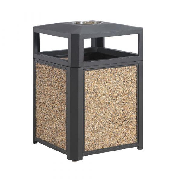Sand Panel Outdoor TrashCan 35 gallon