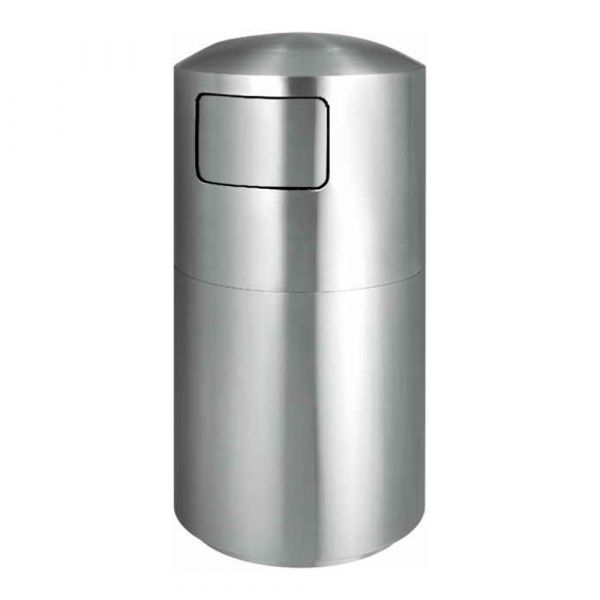 Stainless Steel Trashcan with Window on both sides