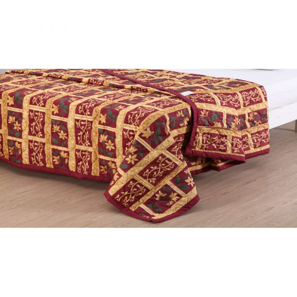 Reversible bedspread in Monte Cristo
