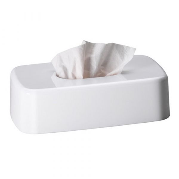 Facial Tissue Cover in White
