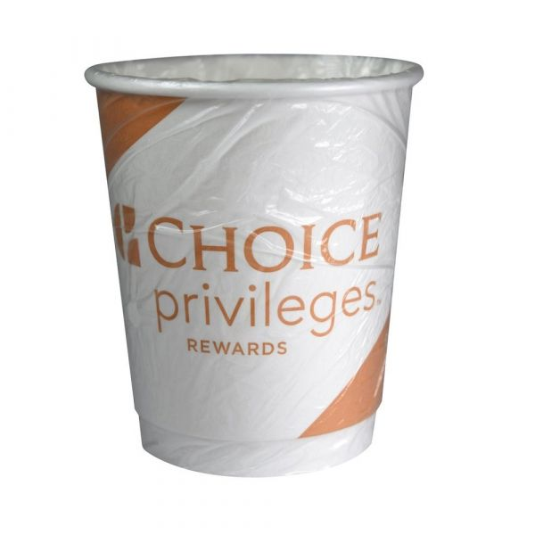 Wrapped Double Wall Cup Choice Privilege Rewards 9oz