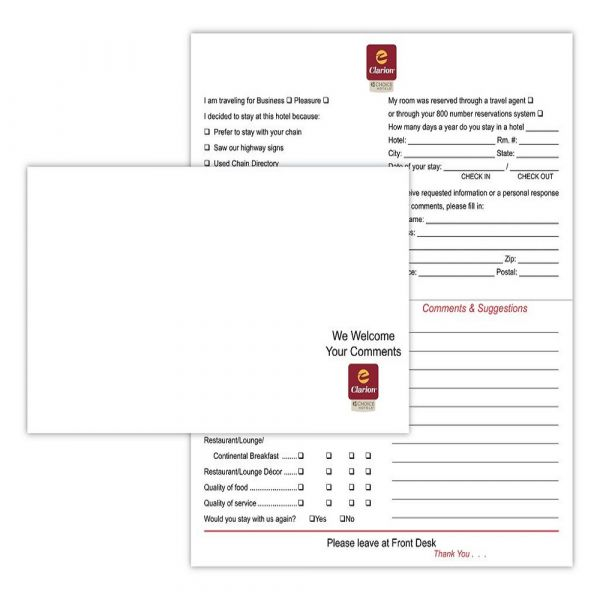 Clarion Comment Card