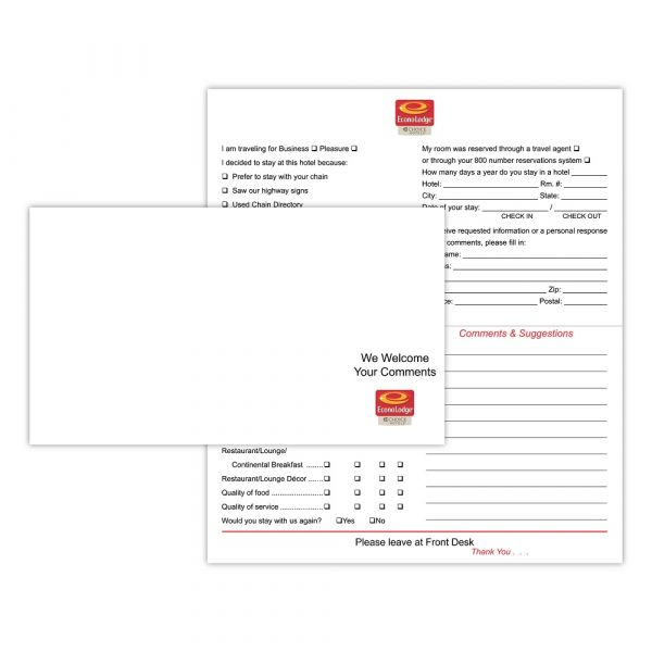 Econolodge Comment Card