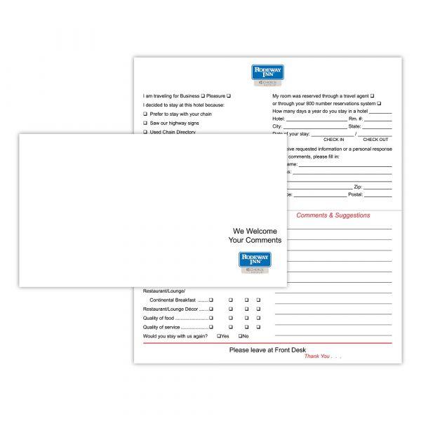 Rodeway Inn Comment Cards