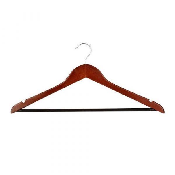 Mens Hanger Mahagony Openhook