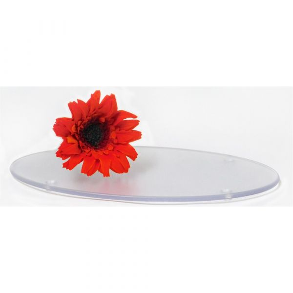 Oval Frosted Tray